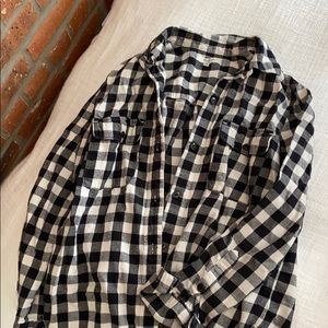 Madewell check button down